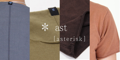 【ast(エイエスティー/アスタリスク)】のTシャツ