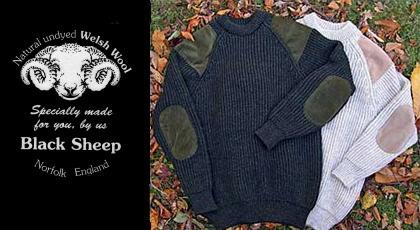 【BLACK SHEEP(ブラックシープ)】ガンパッチセーター・SON OF A GUN