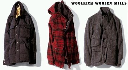 【Woolrich woolen mills】ウールリッチ・ウーレンミルズのコレクション。