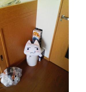 ゴミ箱とトロ