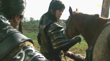 馬の手入れ