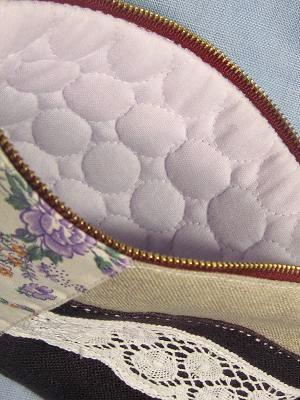 ⑥紫ポーチ 特別仕様のキルト