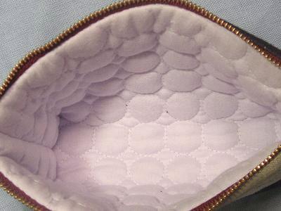 ⑦紫ポーチ キルト