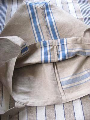 ③アンティークリネンばっぐ 袋縫い