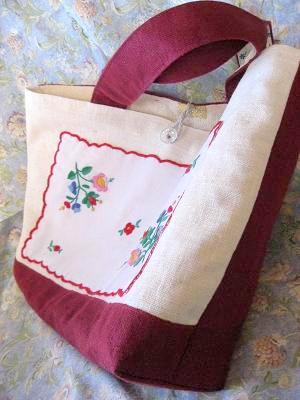 ⑨ハンガリアン刺繍のリネントートバッグ 0マチ