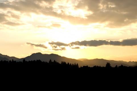 朝日の風景