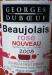 Beaujolais NOUVEAU rose(Georges Dubceuf)(label)