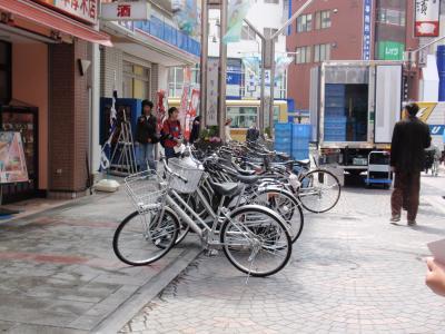自転車と車