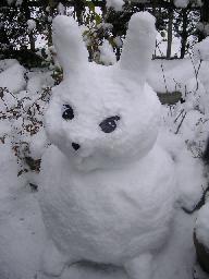 雪だるまウサギ