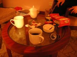コーヒーカップがこのあと・・・
