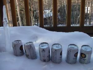 ベランダのビール達