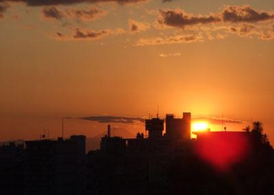 夕焼けの西郷山公園