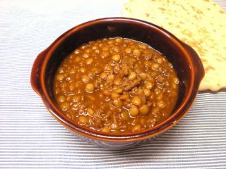 レンズ豆とひき肉のカレー