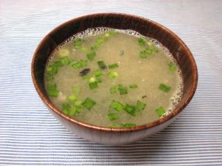 鯖のニラ和えスープ