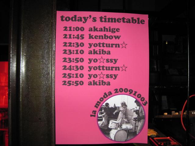 la moda timetable