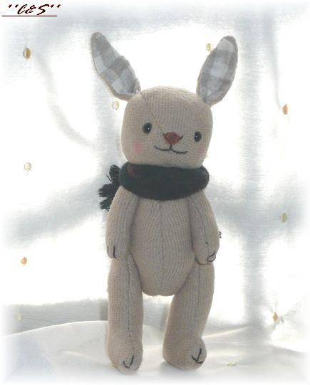 C&Sさんの冬ウサギのぬいぐるみキットです♪