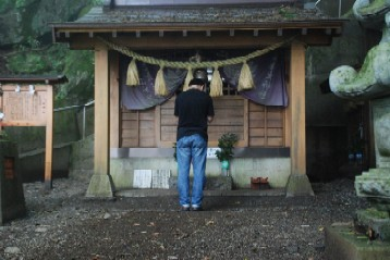 石割神社参拝