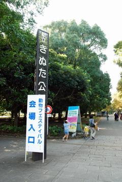砧公園入口