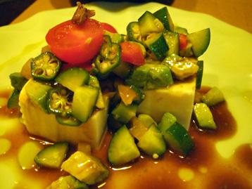 アンチョビと豆腐サラダ