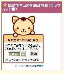 プラグイン猫の年齢