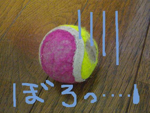 かわいそうなボール…
