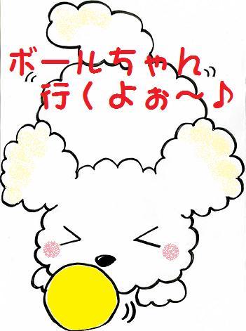ボールちゃん行くよぉ~♪