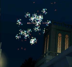 花火で祝福