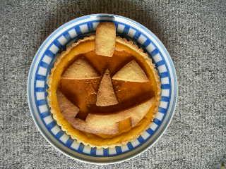 Pampukin tarte for Halloween.