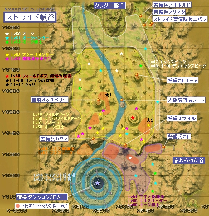 ストライド峡谷マップ