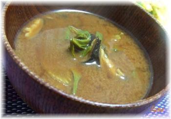 セロリのお味噌汁
