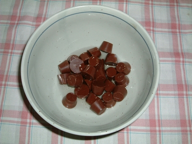 レンジでチンする前のチョコとサラダ油