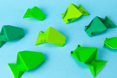 クリスマス 折り紙:折り紙 やっこさん-m2photo.blog21.fc2.com
