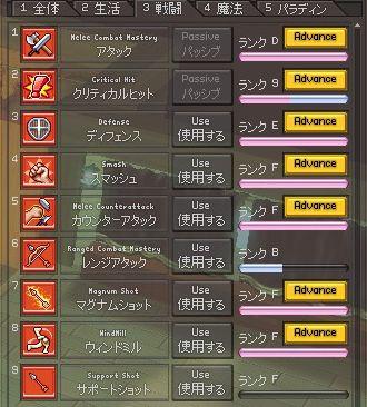 戦闘スキル