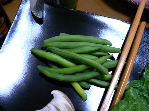 2007年10月15日収穫インゲン