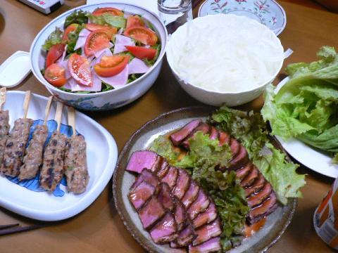 2007年10月25日夕食