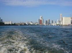 東京湾内に出た!