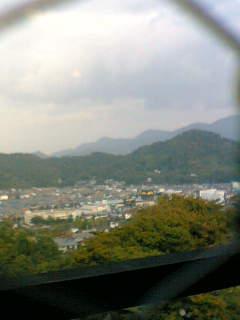 彦根より佐和山を臨む