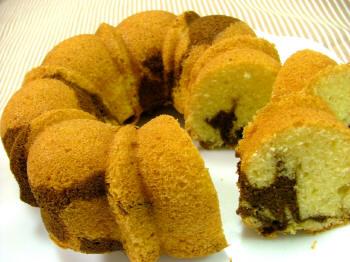 モカマーブルケーキ