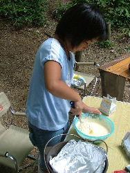 1号チーズケーキ作り!