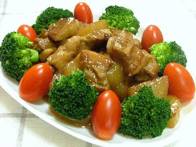 豚バラ肉と大根の甘酢あんかけ