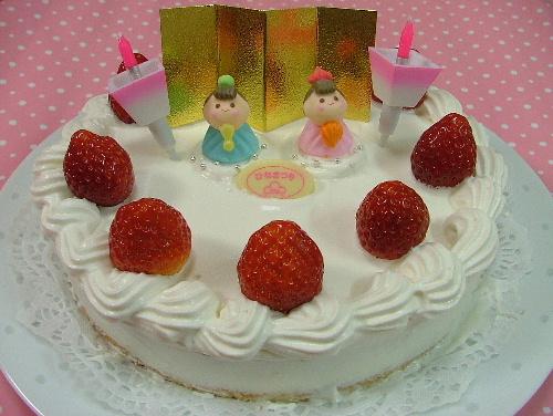 お雛様のケーキ