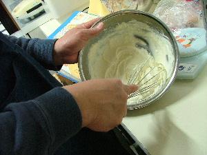 パパ、チーズケーキを作る!