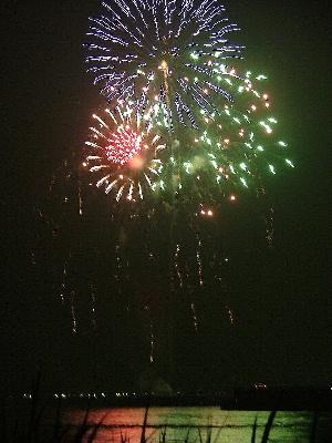 橋祭り 花火