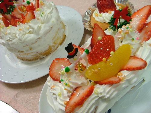 クリスマスケーキ完成♪