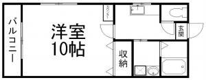 カウンター付き洋室10帖