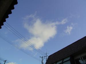 晴れた日の雲