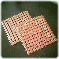 石畳編みコースター