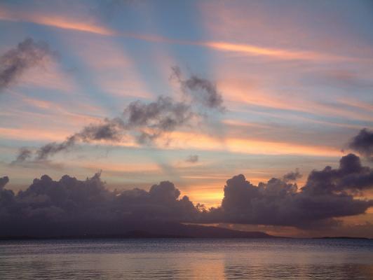 西桟橋の夕焼け
