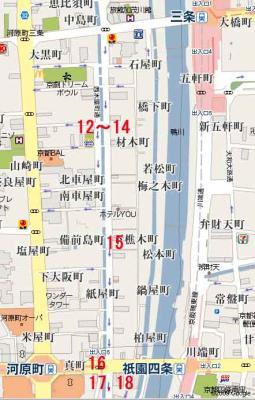高瀬川マップ