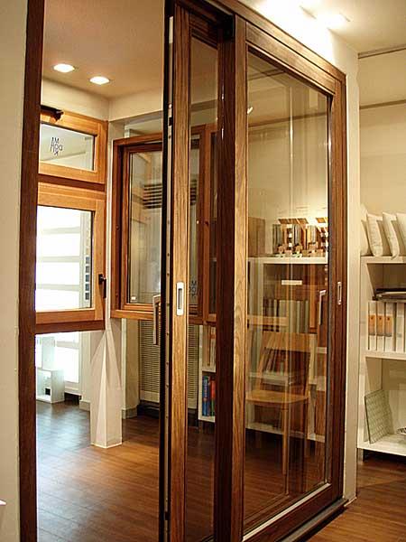 0915まど家-大型開口木製サッシ ヘーベシーベ
